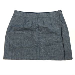 NWT The Limited Light Blue Chambray Linen Skirt